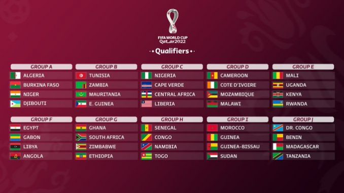 2022 FIFA World Cup Qualifiers Africa, Groups, Fixtures & Results, Teams